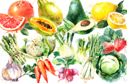 fruits et légumes d'avril