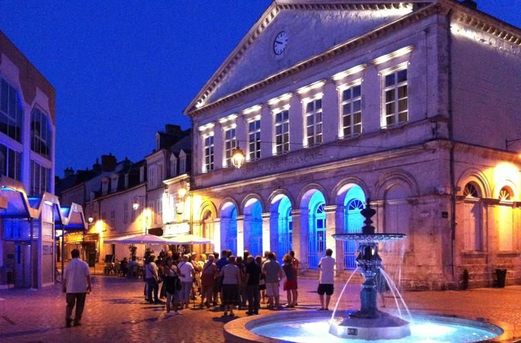 Visite nocturne de Châteauroux - Photo Sophie Ciotti
